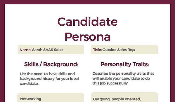 Candidate Persona Template